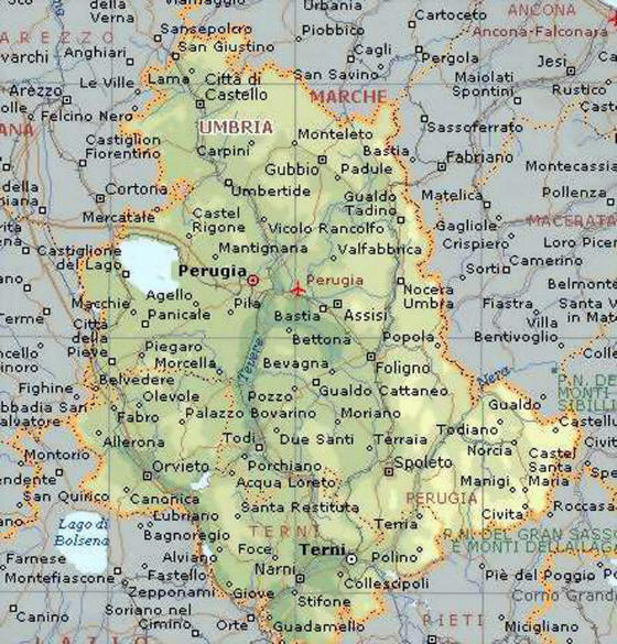 Cartina Stradale Marche Umbria.Cartina Geografica Dell Umbria Stradario Mappa