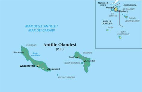 Olanda Cartina Fisica.Cartina Geografica Delle Antille Olandesi Carta Mappa