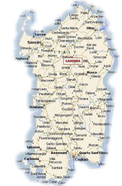 Cartina Geografica Della Toscana.Cartina Geografica Della Sardegna Stradario Mappa
