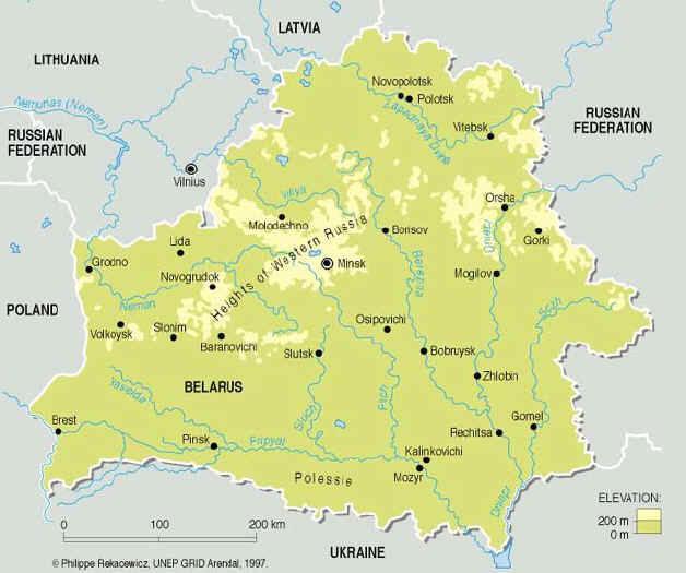 La Cartina Geografica Della Svizzera.Cartina Geografica Della Bielorussia Carta Mappa
