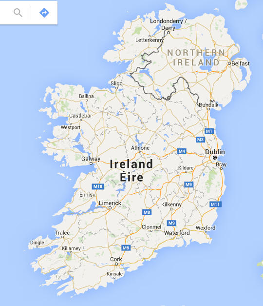 Cartina Geografica Dell Irlanda.Cartina Geografica Dell Irlanda Carta Mappa